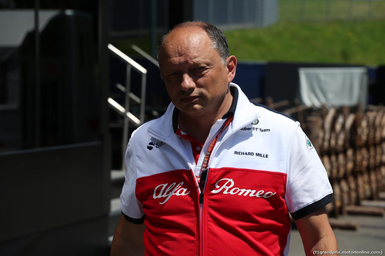 GP AUSTRIA, 01.07.2018- Frederic Vasseur (FRA) Alfa Romeo Sauber F1 TeamPrincipal