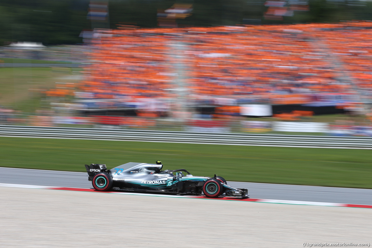 GP AUSTRIA, 01.07.2018- race, Valtteri Bottas (FIN) Mercedes AMG F1 W09