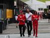 GP AUSTRIA, 28.06.2018- Kimi Raikkonen (FIN) Ferrari SF71H with Matteo Bonciani (ITA), F1 Head of Communications e Stefania Bocchi (ITA) Ferrari