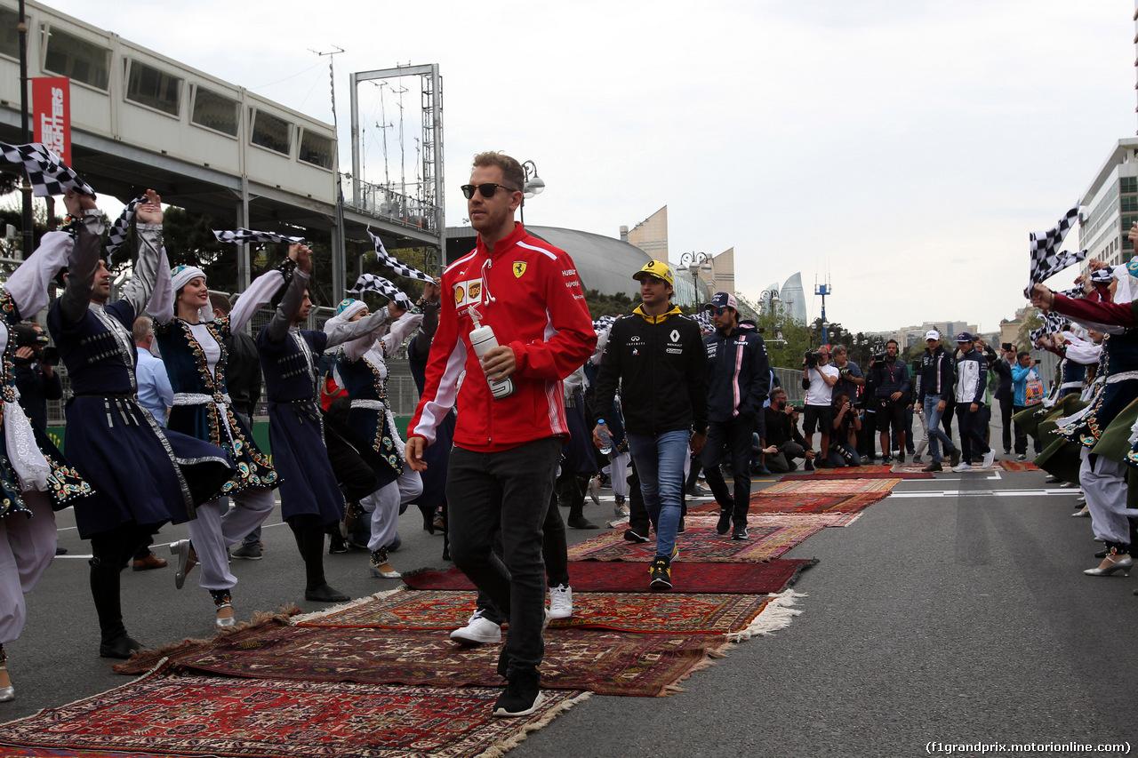 GP AZERBAIJAN, 29.04.2018 - Sebastian Vettel (GER) Ferrari SF71H