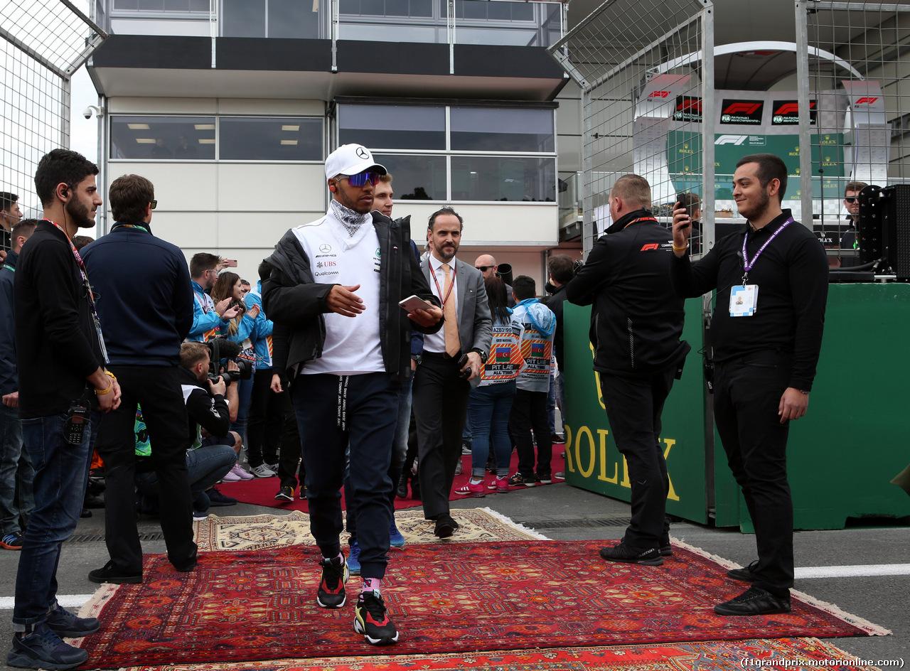 GP AZERBAIJAN, 29.04.2018 - Lewis Hamilton (GBR) Mercedes AMG F1 W09