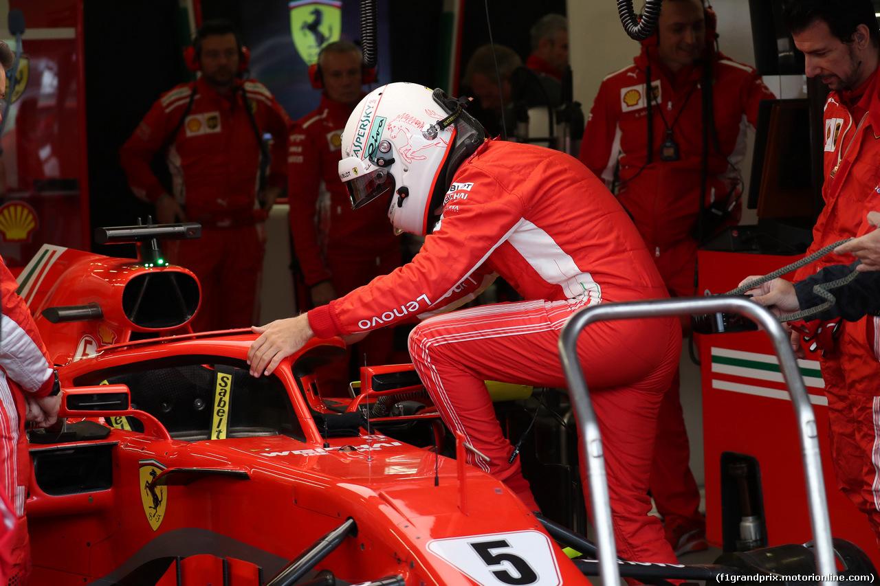 GP AZERBAIJAN, 29.04.2018 - Gara, Sebastian Vettel (GER) Ferrari SF71H