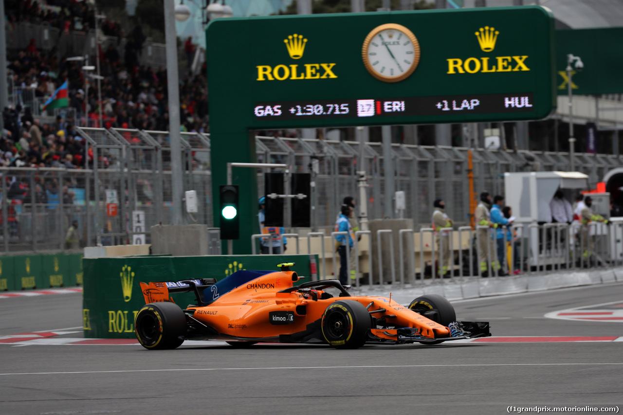 GP AZERBAIJAN, 29.04.2018 - Gara, Stoffel Vandoorne (BEL) McLaren MCL33