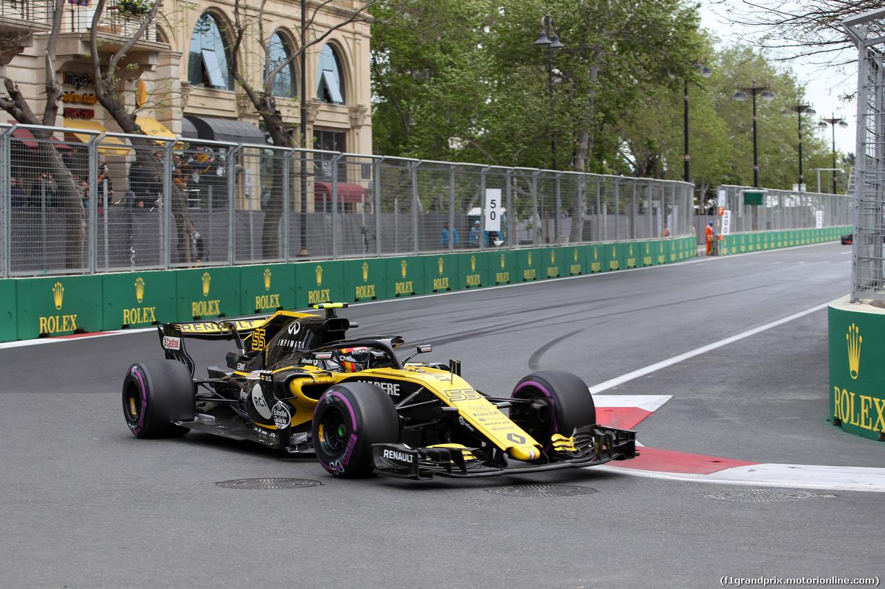 GP AZERBAIJAN, 29.04.2018 - Gara, Carlos Sainz Jr (ESP) Renault Sport F1 Team RS18