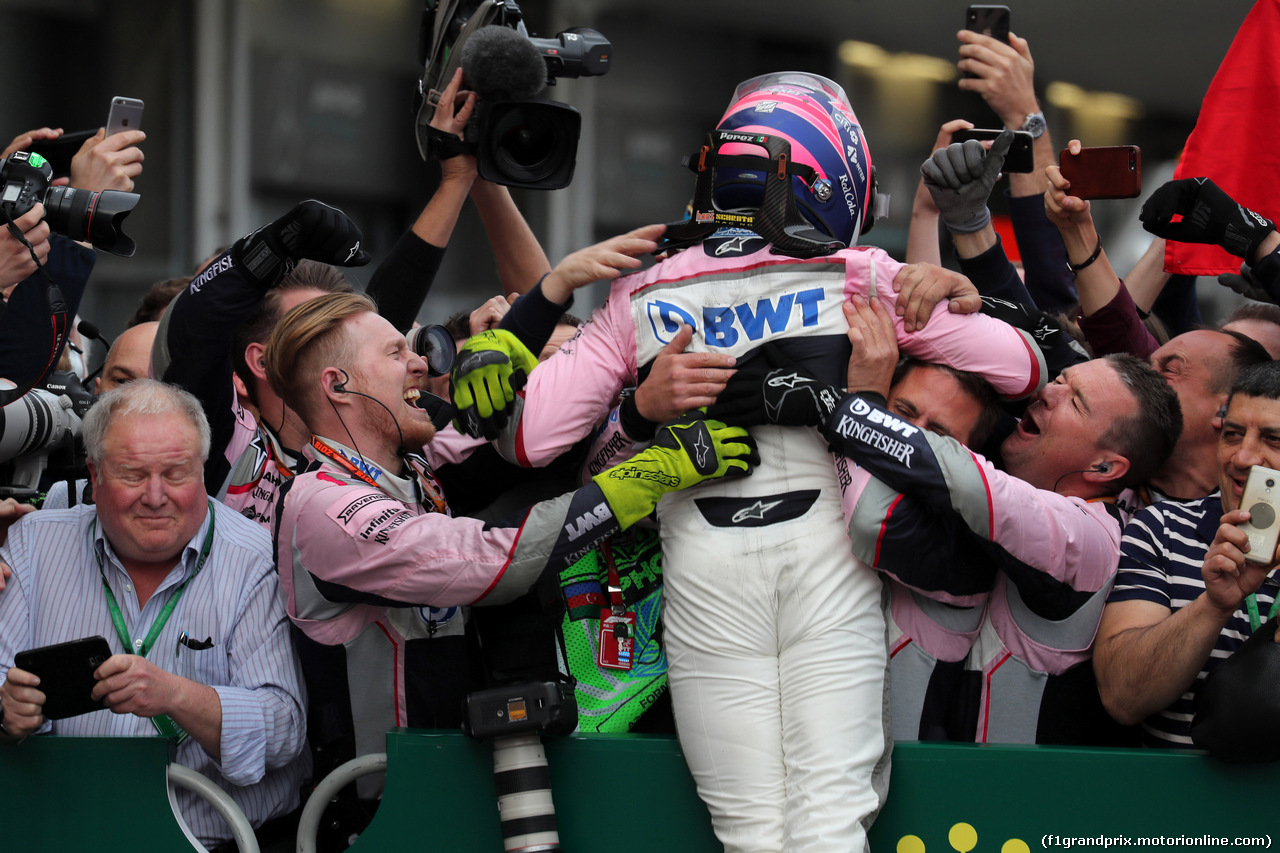 GP AZERBAIJAN, 29.04.2018 - Gara, 3rd place Sergio Perez (MEX) Sahara Force India F1 VJM011