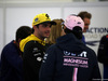 GP AZERBAIJAN, 29.04.2018 - Carlos Sainz Jr (ESP) Renault Sport F1 Team RS18 e Sergio Perez (MEX) Sahara Force India F1 VJM011