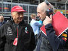 GP AZERBAIJAN, 29.04.2018 - Gara, Nikki Lauda (AU), Mercedes e Adrian Newey (GBR), Red Bull Racing , Technical Operations Director