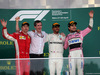 GP AZERBAIJAN, 29.04.2018 - Gara, 2nd place Kimi Raikkonen (FIN) Ferrari SF71H, Lewis Hamilton (GBR) Mercedes AMG F1 W09 vincitore e 3rd place Sergio Perez (MEX) Sahara Force India F1 VJM011