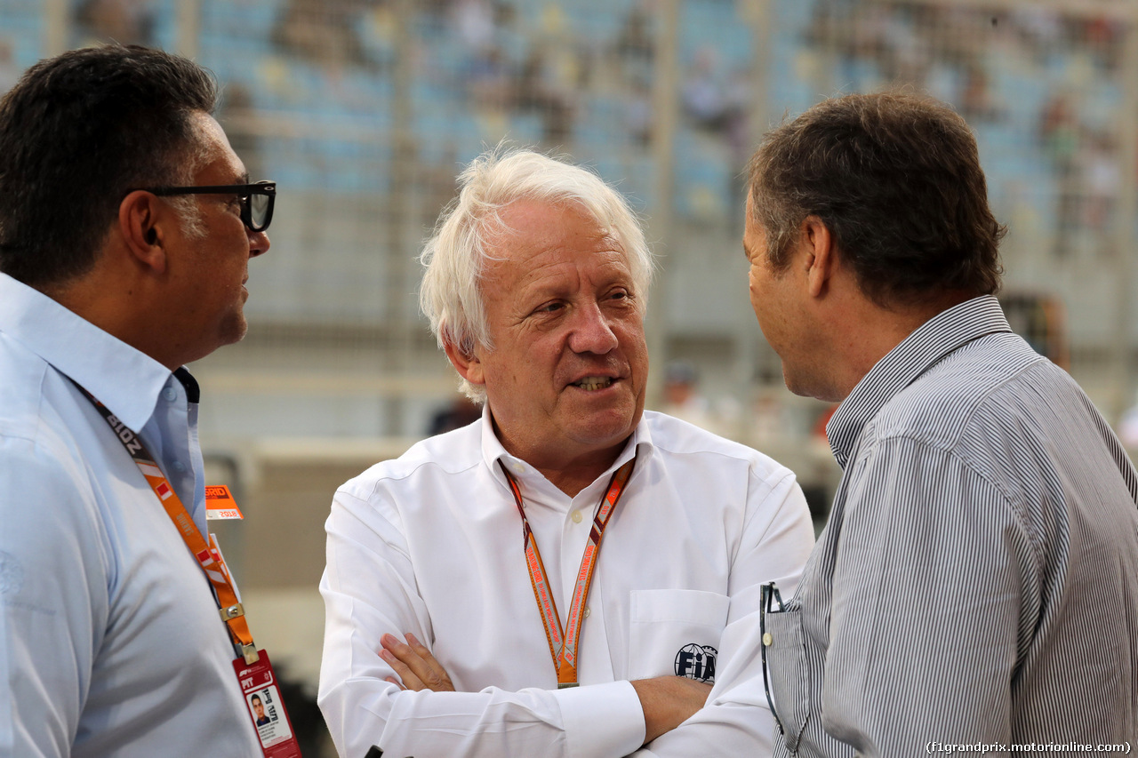 GP BAHRAIN, 08.04.2018 - Gara, Charlie Whiting (GBR), Gara director e safety delegate