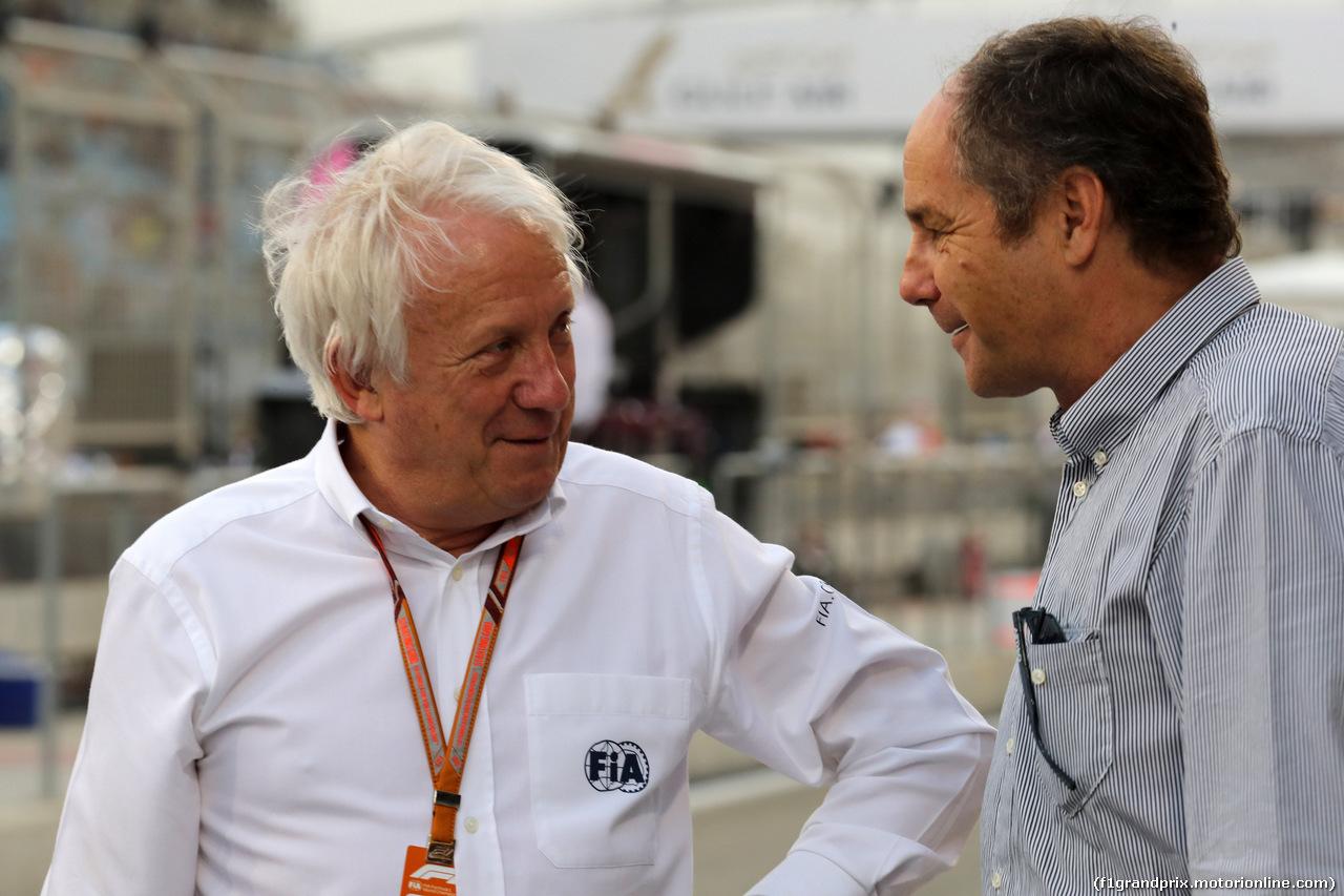 GP BAHRAIN, 08.04.2018 - Gara, Charlie Whiting (GBR), Gara director e safety delegate  e Gerard Berger (AUT)