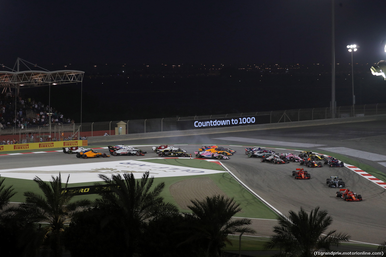 GP BAHRAIN, 08.04.2018 - Gara, Start of the race