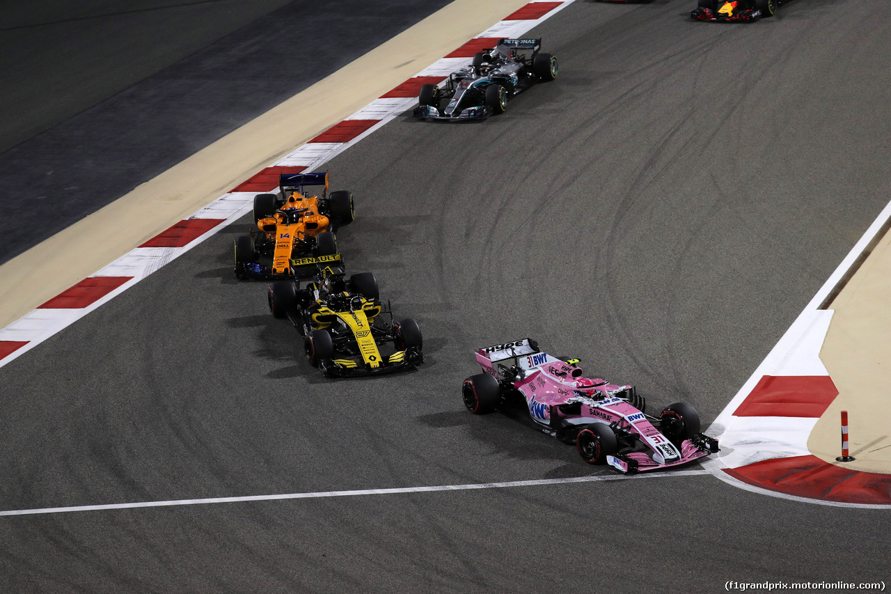 GP BAHRAIN, 08.04.2018 - Gara, Esteban Ocon (FRA) Sahara Force India F1 VJM11