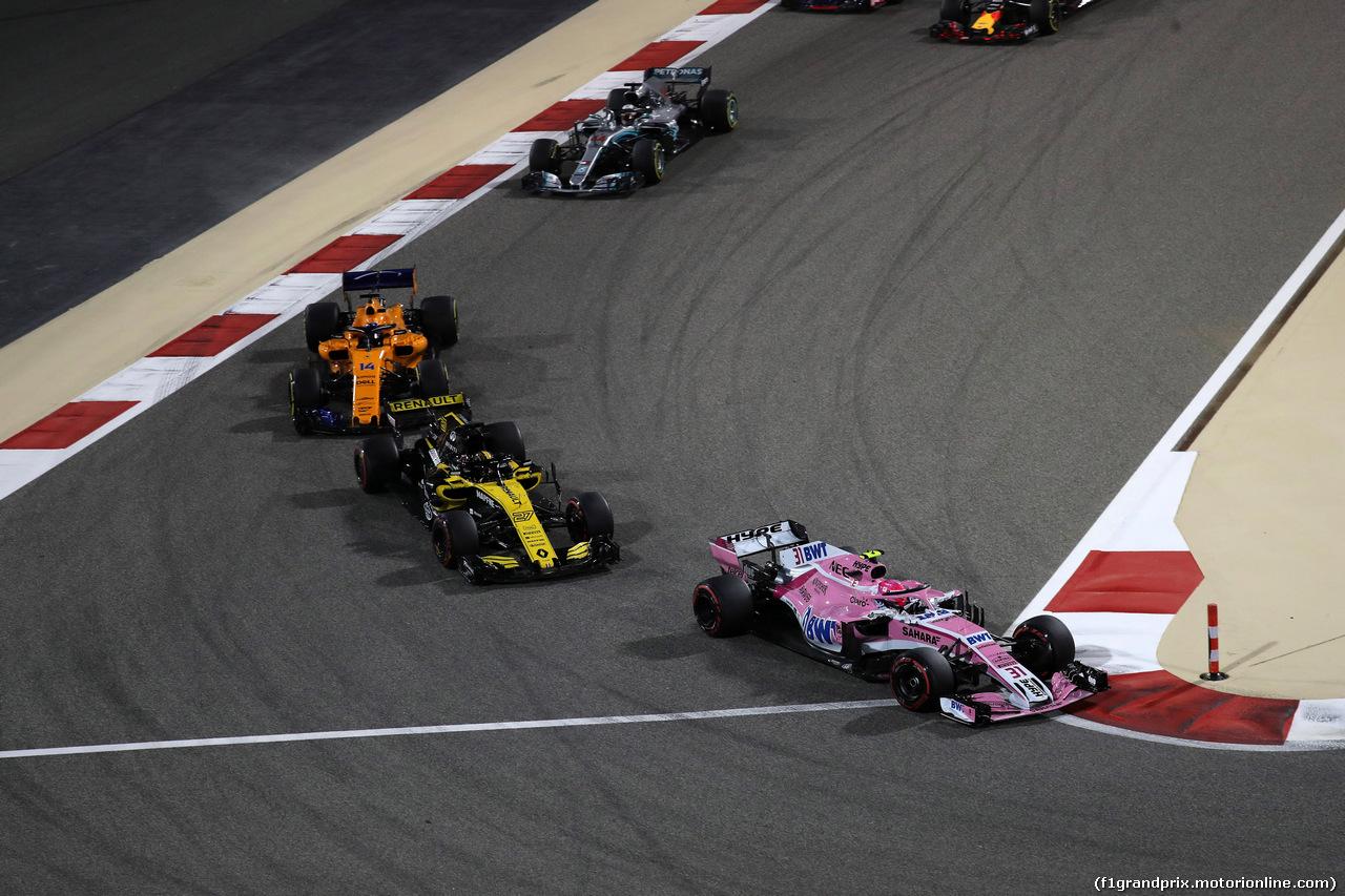 GP BAHRAIN, 08.04.2018 - Gara, Esteban Ocon (FRA) Sahara Force India F1 VJM11