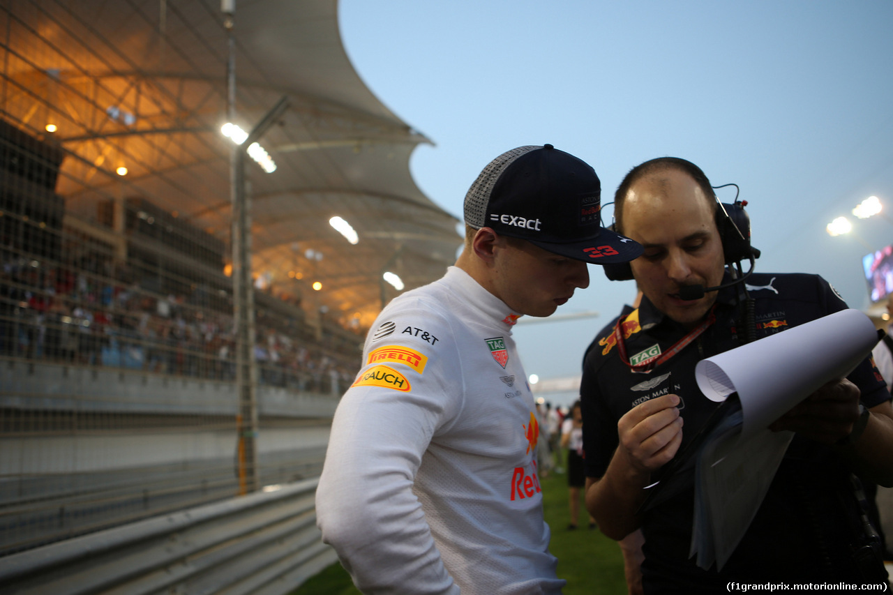 GP BAHRAIN, 08.04.2018 - Gara, Max Verstappen (NED) Red Bull Racing RB14