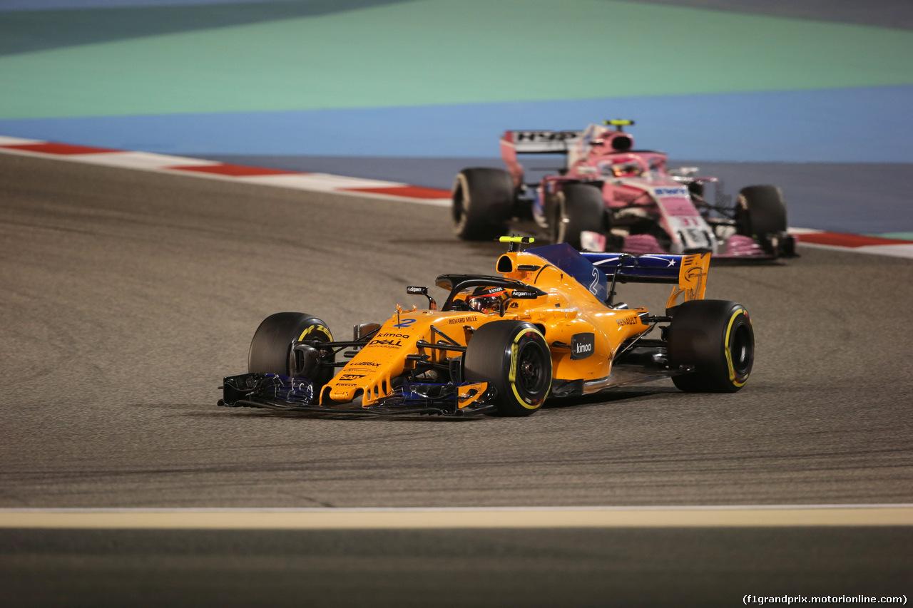 GP BAHRAIN, 08.04.2018 - Gara, Stoffel Vandoorne (BEL) McLaren MCL33