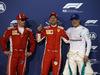 GP BAHRAIN, 07.04.2018 -  Qualifiche, 2nd place Kimi Raikkonen (FIN) Ferrari SF71H, Sebastian Vettel (GER) Ferrari SF71H pole position e 3rd place Valtteri Bottas (FIN) Mercedes AMG F1 W09