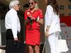 GP BAHRAIN, 08.04.2018 - Bernie Ecclestone (GBR), Britta Roeske (AUT) Ferrari Press Officer e Fabiana Flosi (BRA), Wife of Bernie Ecclestone