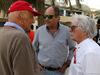 GP BAHRAIN, 08.04.2018 - Nikki Lauda (AU), Mercedes, Gerard Berger (AUT) e Bernie Ecclestone (GBR)