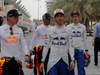 GP BAHRAIN, 05.05.2018 - Max Verstappen (NED) Red Bull Racing RB14, Pierre Gasly (FRA) Scuderia Toro Rosso STR13 e Brendon Hartley (NZL) Scuderia Toro Rosso STR13