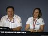 GP BAHRAIN, 06.04.2018 - Conferenza Stampa, Zak Brown (USA) McLaren Executive Director e Claire Williams (GBR) Williams Deputy Team Principal.