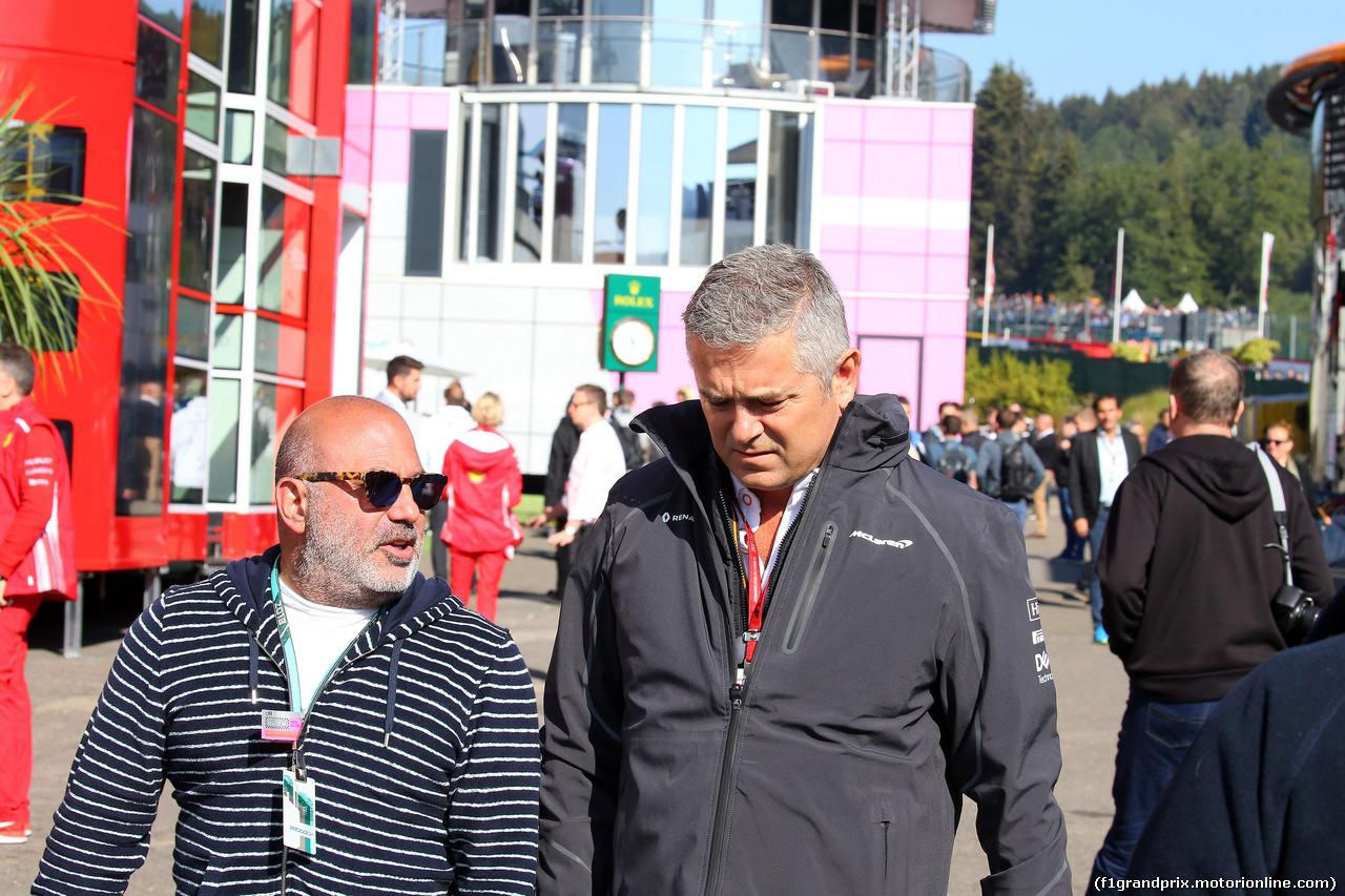 GP BELGIO, 26.08.2018 - Gil de Ferran (BRA) McLaren Sporting Director