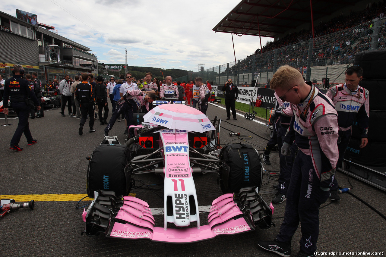 GP BELGIO, 26.08.2018 - Gara, Sergio Perez (MEX) Racing Point Force India F1 VJM11