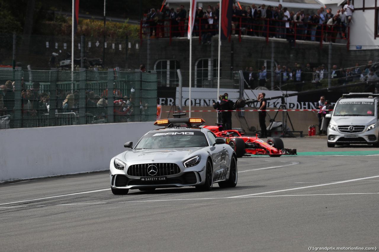 GP BELGIO, 26.08.2018 - Gara, The Safety car e Sebastian Vettel (GER) Ferrari SF71H