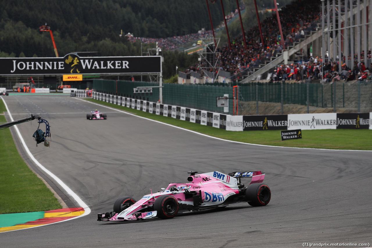 GP BELGIO, 26.08.2018 - Gara, Sergio Perez (MEX) Racing Point Force India F1 VJM11