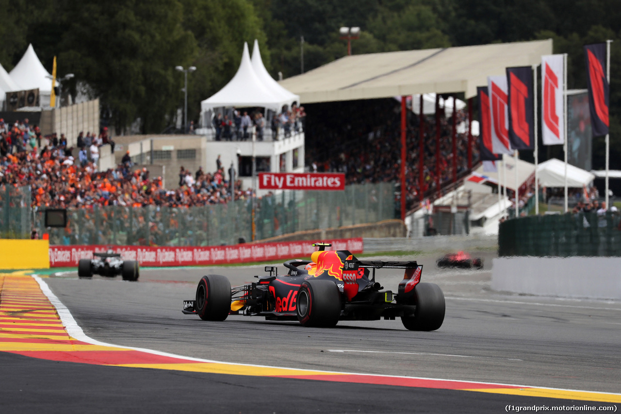 GP BELGIO, 26.08.2018 - Gara, Max Verstappen (NED) Red Bull Racing RB14