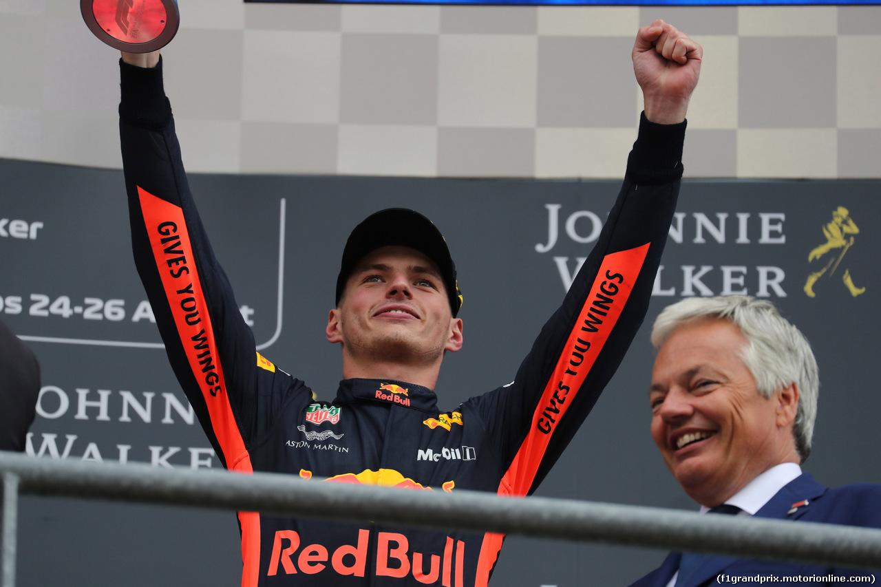 GP BELGIO, 26.08.2018 - Gara, 3rd place Max Verstappen (NED) Red Bull Racing RB14