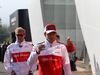 GP BELGIO, 26.08.2018 - Marcus Ericsson (SUE) Sauber C37 e Charles Leclerc (MON) Sauber C37