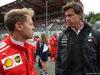 GP BELGIO, 26.08.2018 - Gara, Sebastian Vettel (GER) Ferrari SF71H e Toto Wolff (GER) Mercedes AMG F1 Shareholder e Executive Director