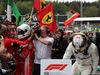 GP BELGIO, 26.08.2018 - Gara, Sebastian Vettel (GER) Ferrari SF71H vincitore e 2nd place Lewis Hamilton (GBR) Mercedes AMG F1 W09