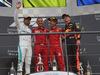 GP BELGIO, 26.08.2018 - Gara, 2nd place Lewis Hamilton (GBR) Mercedes AMG F1 W09, Sebastian Vettel (GER) Ferrari SF71H vincitore e 3rd place Max Verstappen (NED) Red Bull Racing RB14