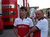 GP BELGIO, 23.08.2018 - Charles Leclerc (MON) Sauber C37 e Frederic Vasseur (FRA) Sauber Team Principal