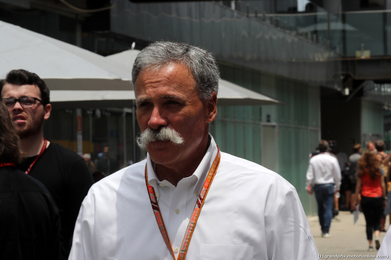 GP BRASILE, 11.11.2018 - Chase Carey (USA) Formula One Group Chairman