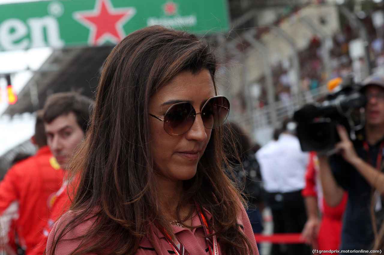 GP BRASILE, 11.11.2018 - Gara, Fabiana Flosi (BRA), Wife of Bernie Ecclestone