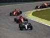 GP BRASILE, 11.11.2018 - Gara, Valtteri Bottas (FIN) Mercedes AMG F1 W09 davanti a Kimi Raikkonen (FIN) Ferrari SF71H