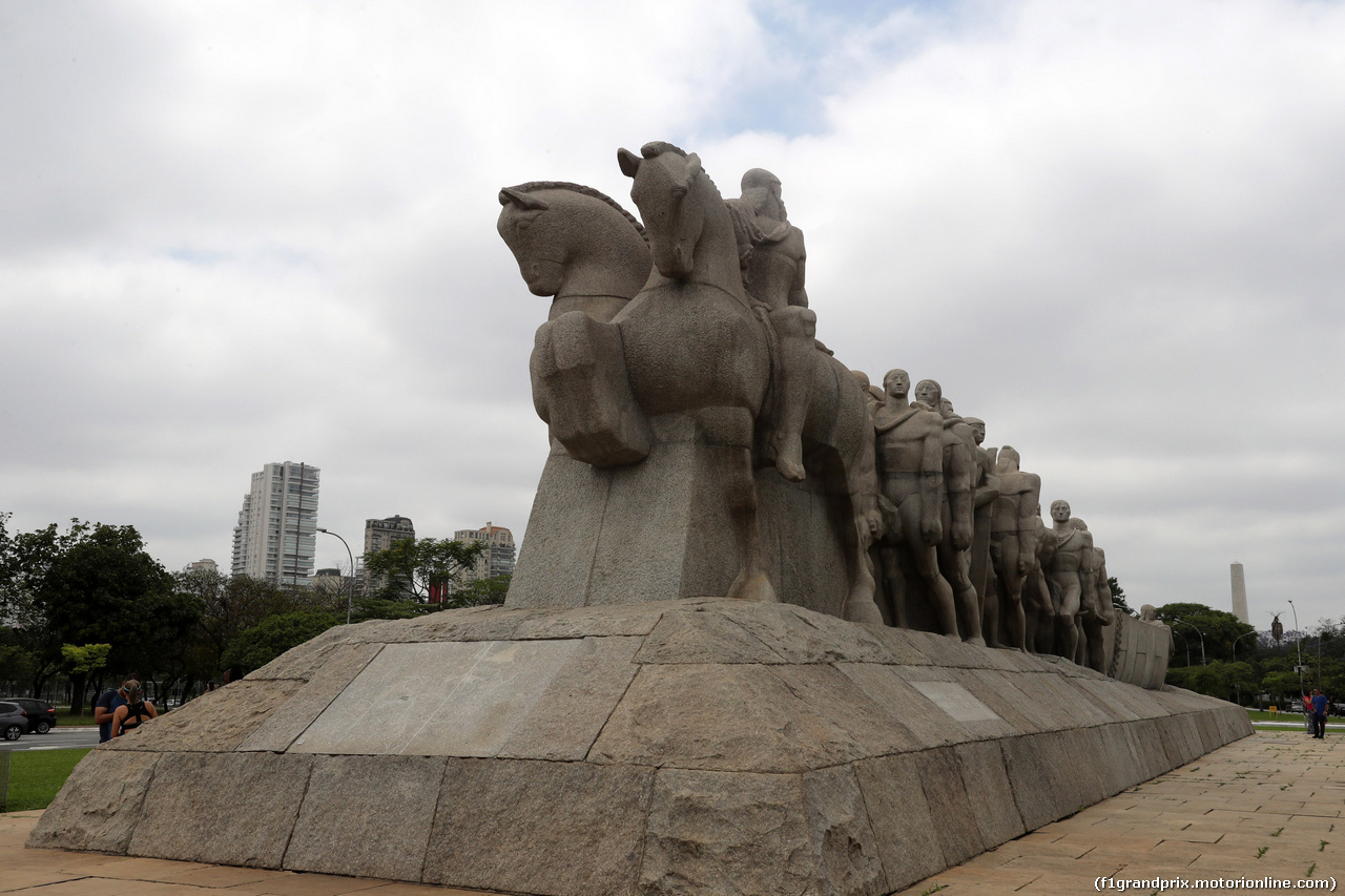 GP BRASILE, 08.11.2018 - Scenic Sao Paulo, Monument to the Bandeiras