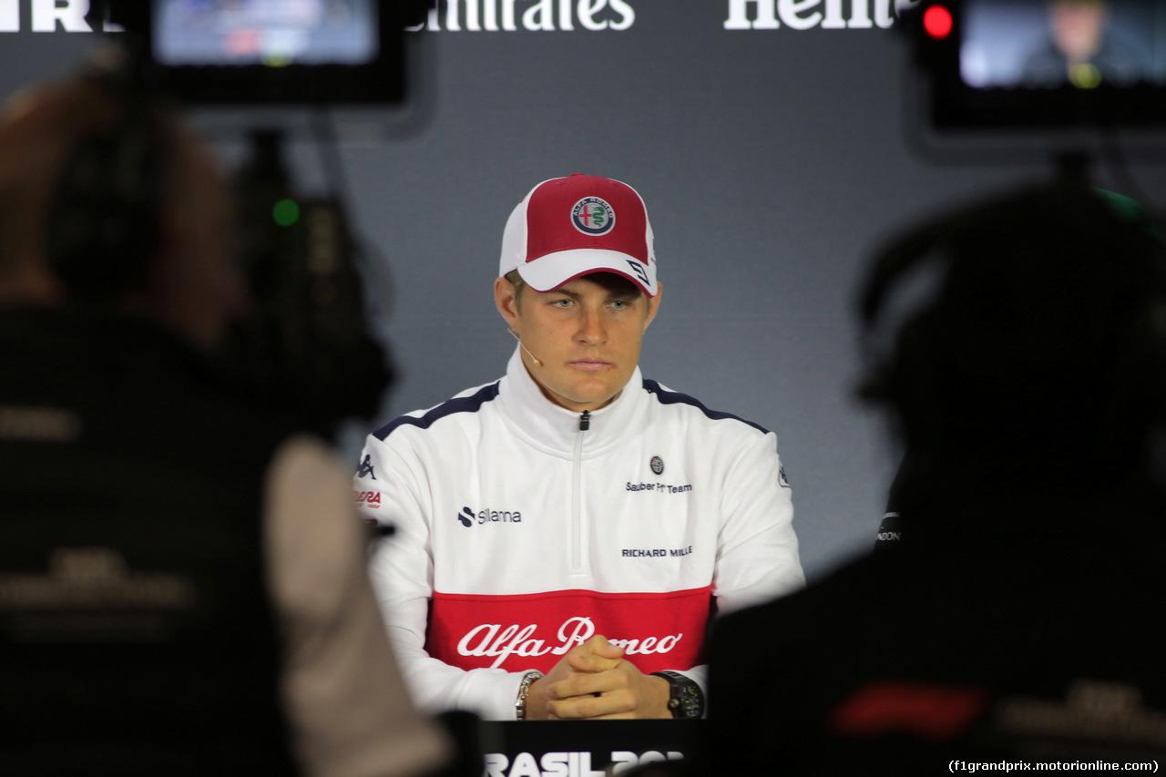 GP BRASILE, 08.11.2018 - Marcus Ericsson (SUE) Sauber C37
