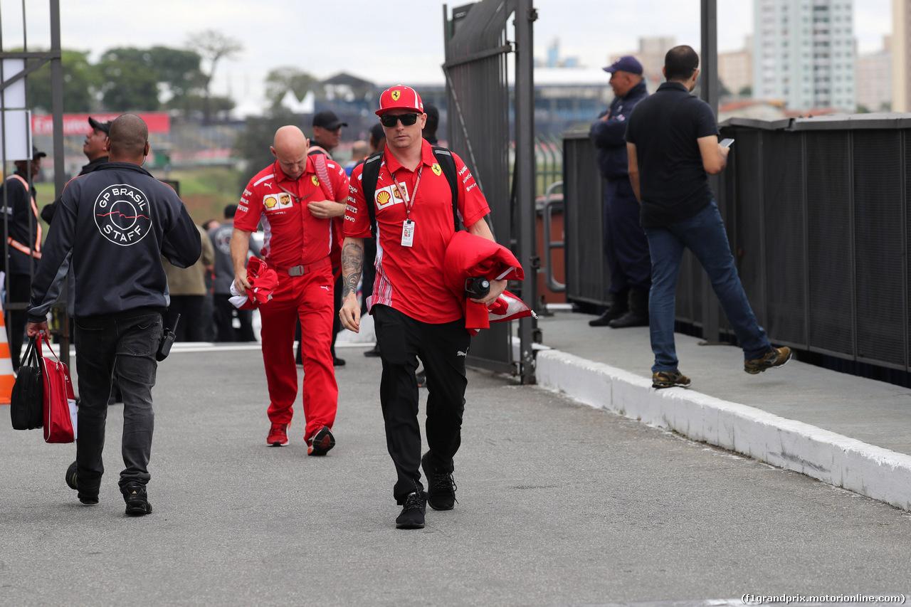 GP BRASILE, 09.11.2018 - Kimi Raikkonen (FIN) Ferrari SF71H