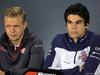 GP BRASILE, 08.11.2018 - Conferenza Stampa, Kevin Magnussen (DEN) Haas F1 Team VF-18 e Charles Leclerc (MON) Sauber C37