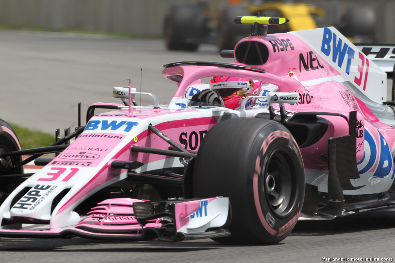 GP CANADA, 10.06.2018- Gara, Esteban Ocon (FRA) Sahara Force India F1 VJM11