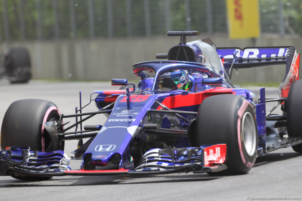 GP CANADA, 10.06.2018- Gara, Brendon Hartley (FRA) Scuderia Toro Rosso STR13 during the installation lap