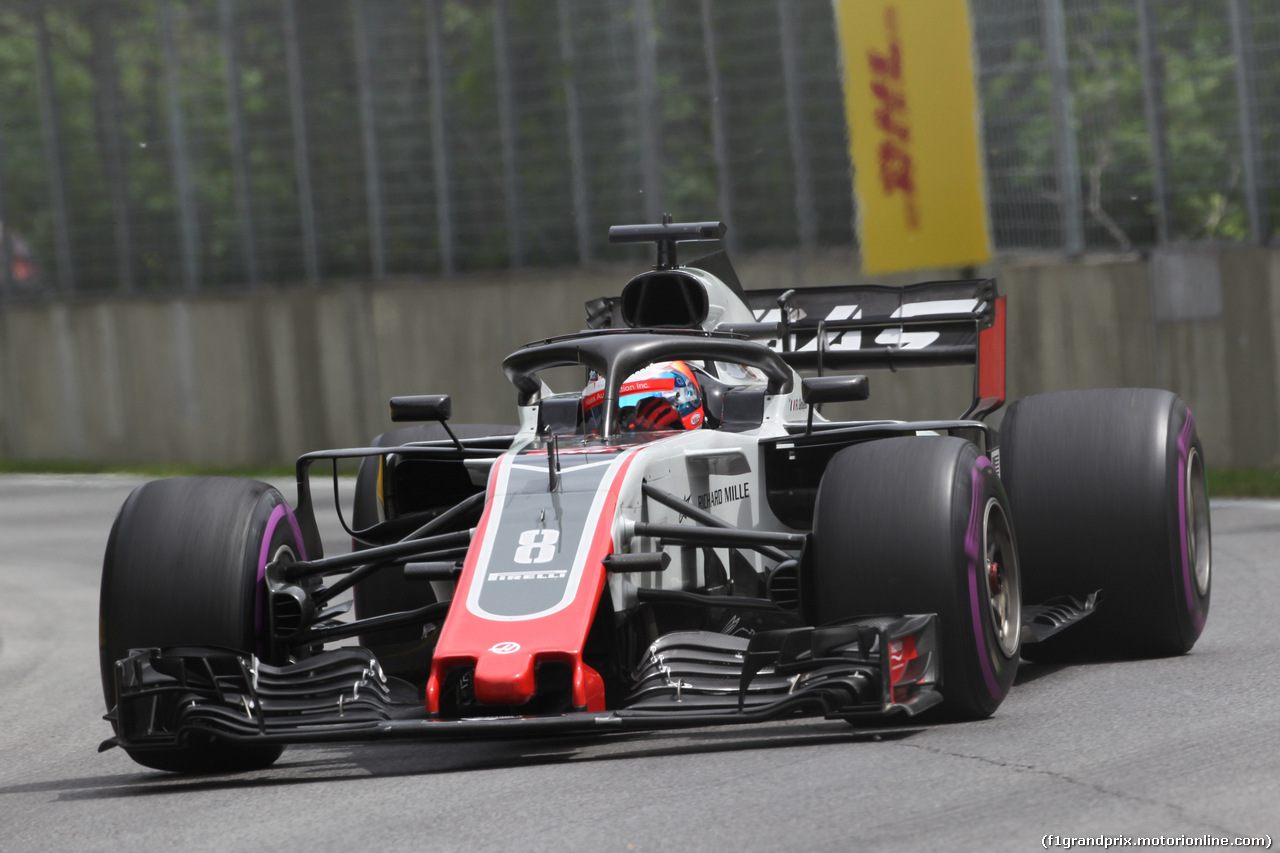 GP CANADA, 10.06.2018- Gara, Romain Grosjean (FRA) Haas F1 Team VF-18