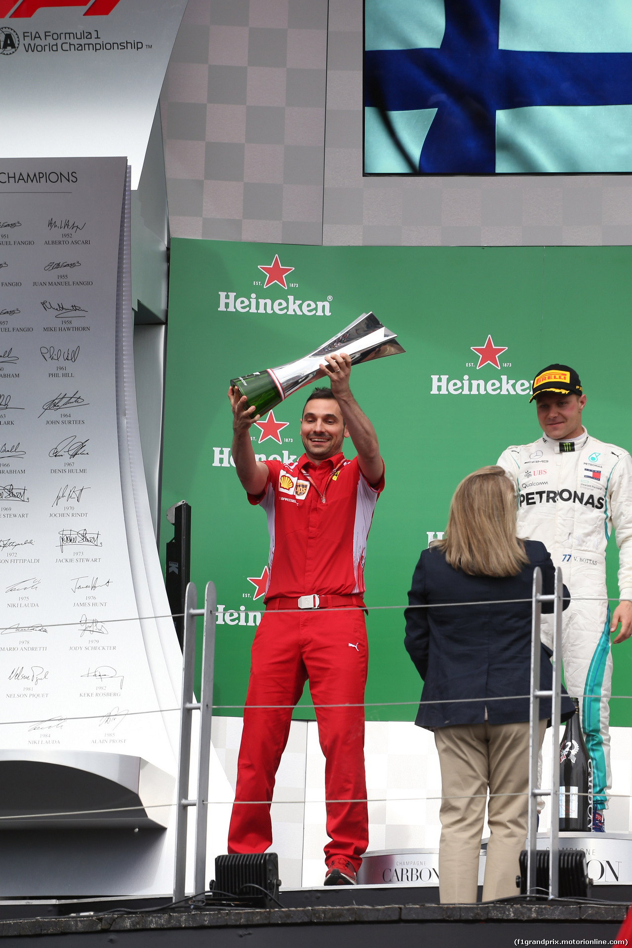GP CANADA, 10.06.2018- Podium, winner team Ferrari Team Representative