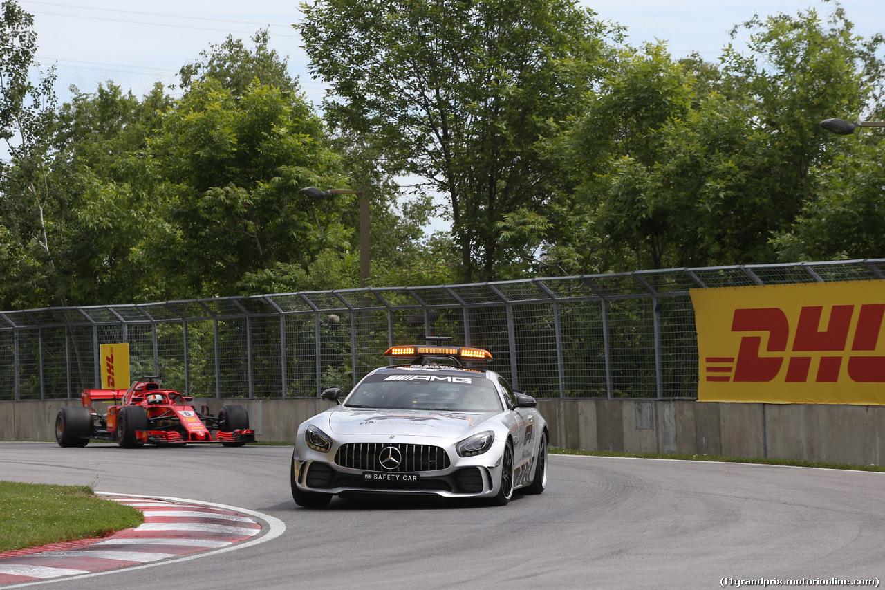 GP CANADA, 10.06.2018- Gara, The safety gar davanti a the group