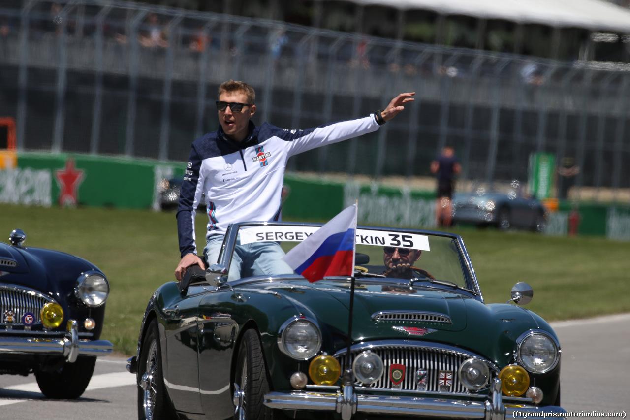 GP CANADA, 10.06.2018- driver parade, Sergej Sirotkin (RUS) Williams F1 Team FW41