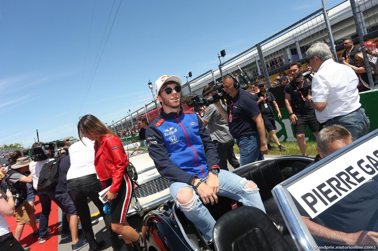 GP CANADA, 10.06.2018- driver parade, Pierre Gasly (FRA) Scuderia Toro Rosso STR13