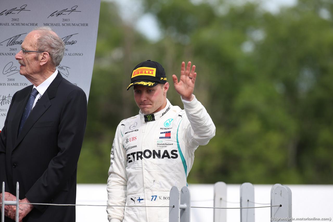 GP CANADA, 10.06.2018- podium, 2nd place Valtteri Bottas (FIN) Mercedes AMG F1 W09
